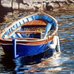 Omaggio alle Cinque Terre olio su tela 40x50