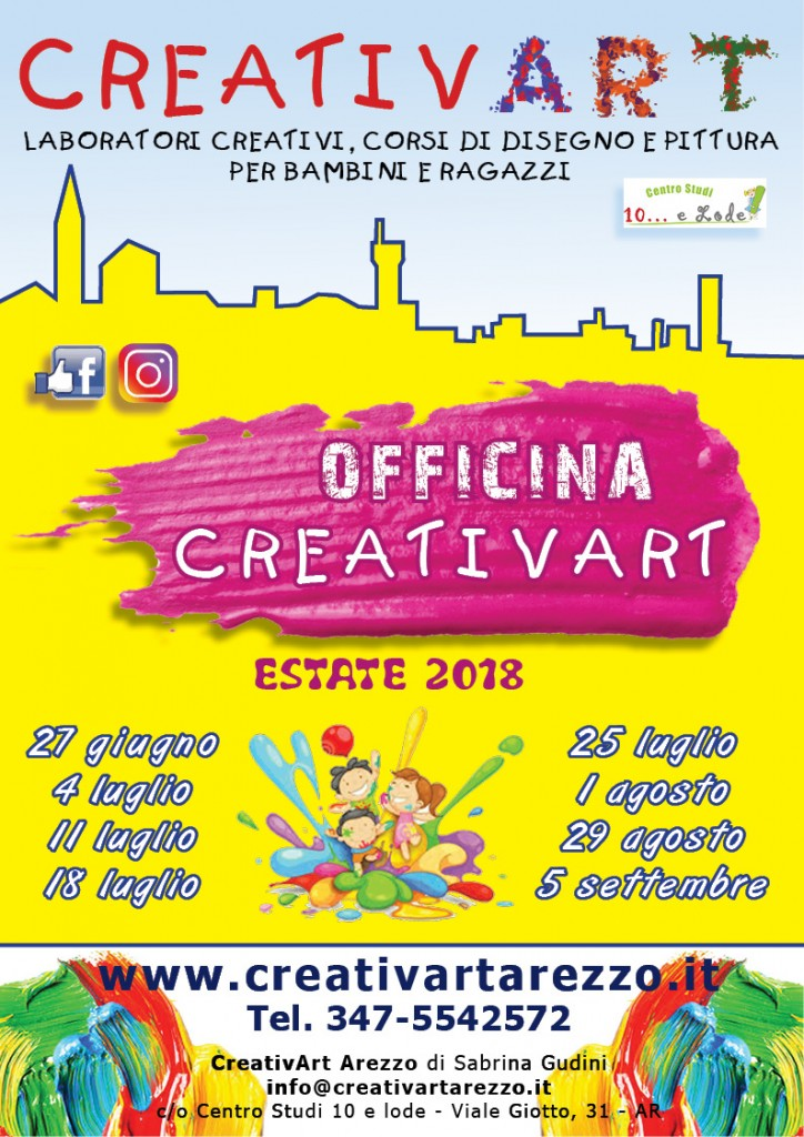 campi estivi creativart 2018